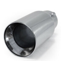 Universal Exhaust Tip Trim Tail Pipe Stainless Steel For Audi 80 90 100 200 TT