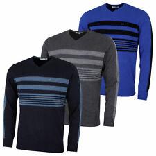 Calvin Klein Mens V-Neck Performance Soft Chest Stripe Sweater 45% OFF RRP