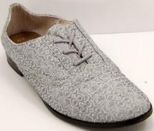 TOMS Printed Gray/White Oxford Women's Shoes Sz 10 M