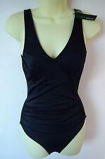 Black Swimming Costume Marie Meili UK Size 10 Holiday Beach Swim Pool Stunning