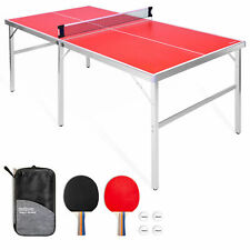 GoSports Mid Size 6 X 3 Foot Table Tennis Ping Pong Game Set (Open Box)