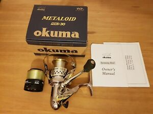 VGC Okuma Metaloid  MD30 Spinning reel - with spare spool with new mono line