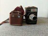 Vintage Kodak Brownie Fun Saver 8mm Movie Camera with Field Case - Retro Decor