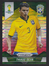 PANINI PRIZM WORLD CUP 2014-Base # 108 Thiago Silva-Yellow Red Pulsar