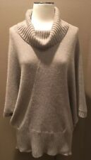 BANANA REPUBLIC Sz XL LIGHT BROWN COWL NECK SWEATER TOP WOOL & MOHAIR SOFT