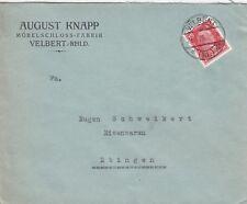 VELBERT, Briefumschlag 1928, August Knapp Möbel-Schloss-Fabrik