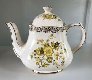 Vintage Sadler England Teapot w Gold and Flowers
