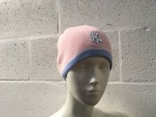 NEW YORK YANKEES KNIT BEANIE HAT PINK NEW