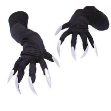 Women Gloves Long Glitter Nails Demon Devil Witch Halloween Costume Accessory LG