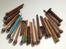 antique wooden spools and bobbins | lot of 24