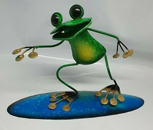 Bali Surfing Frog on board   Funny Best Gifts handmade metal Balinese  FREE POST
