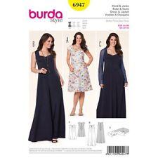 Burda Sewing Pattern 6947 Womens 18-34 Easy Fit and Flare Dress Inc Maxi Bolero