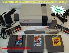 Nintendo NES Console Bundle NEW PINS Game lot Super Mario 1 2 3 ALL ORIGINAL!