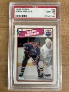 Mark Messier Oilers 1988 Topps #93 PSA 10 GEM MINT