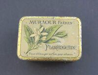 Boite publicitaire MURAOUR Florangeane Fleur d'oranger GRASSE Blechdose tin