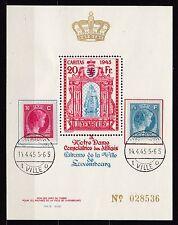 Luxemburg 1945 gestempelt Caritas Vignetten Block (Nr. 028536)