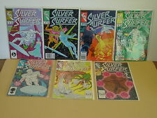 Marvel's Silver Surfer circa 1987, Issues 2,3,5,6,7,8,9  One Lot, Nice Condition