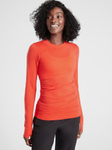NWT ATHLETA Foresthill Merino Wool Ascent Top - XS - XSMALL - Torch Red - $74