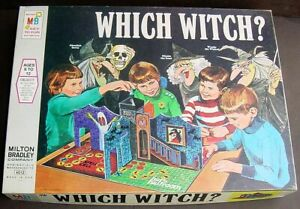 1970 Milton Bradley WHICH WITCH? 3D Haunted House Board Game 100% Complete G-VG