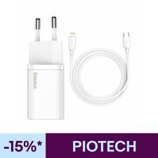 Baseus 20W Rápido Cargador USB C Enchufe Cable para Apple iPhone 11 12 XS X 8 7