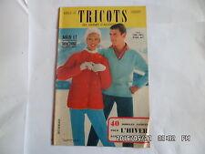 LES TRICOTS DE FEMMES D'AUJOURD'HUI N°123 1959 MODELES FEMME ENFANT HOMME    J46