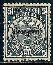 Swaziland 1890 5s Slate-Blue Average Used SG8 C.V. £325