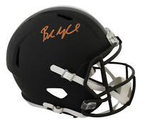 Baker Mayfield Signed Cleveland Browns Black Matte Replica Helmet BAS 26585