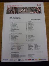28/11/2012 PSV Eindhoven Youth U19 v Celtic Youth U19 [NextGen Series] (single s
