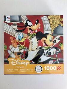 Disney Fine Art 1000pc Jigsaw Puzzle, Wheeling With Flavor, Mickey Goofy Donald
