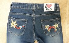 D&G Dolce & Gabbana jeans with embroidered flowers on pockets (10) W30 L 32