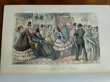 c1850 HANDLEY CROSS Mr Jorrocks 'Sir THOMAS TROUT & The BLOOMERS' ENGRAVING