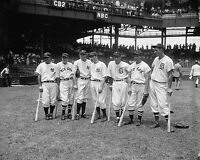 8x10 Photo of Stars of 1937 Baseball All-Star Game-Lou Gehrig, Joe DiMaggio-plus
