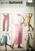 Ms MP Butterick 4194 UNCUT Sewing Pattern Shorts Capri Pants Sz 6-8-10-12-14