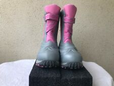 LL BEAN Toddler Girls Winter Snow Boots Size 4Pink Gray Insulated Waterproof