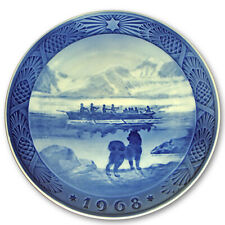 "1968 Royal Copenhagen Christmas Plate. ""The Last Umiak"""