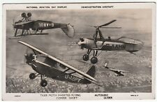 RARE Aviation RPPC - British National Day  Tiger Moth Comper Autogiro 1932 Photo