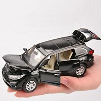 Toyota Highlander SUV 1:32 Diecast Model Car Toy Collection Sound&Light Gift