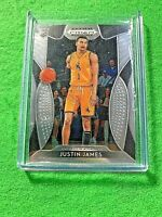 JUSTIN JAMES SILVER CHROME RC JERSEY#1 WYOMING COWBOYS 2019 PRIZM DRAFT PICK