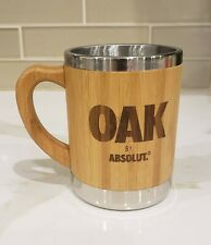 Absolut Vodka Oak Promotional - NEW - Moscow Mule Mug Coffee Wood & Stainless