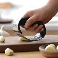 304 Stainless steel manual garlic press crusher squeezer masher kitchen t DD