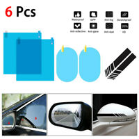 4pcs Rainproof Car Rearview Mirror Sticker Anti-fog Anti-glare Protective Film