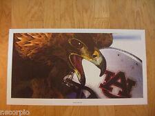 Auburn Tigers War Eagle Poster-12 X 24