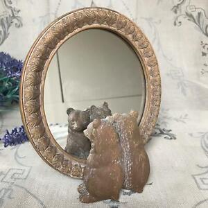 Bear Cub Mirror Freestanding Decorative Mirror Ornament Shabby Chic Easter Gift