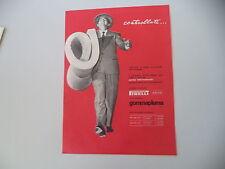 advertising Pubblicità 1957 MATERASSO PIRELLI