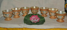 RAISED OFFERING BOWLS, Set of 7  votive and pray offering cups Made Nepal