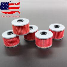 5x Oil Filter for HF112 Kawasaki KLX110 KLX140 Honda XR 250 350 400 600 650