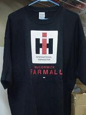 INTERNATIONAL HARVESTER BLACK FARMALL T-SHIRT with IH LOGO, NEW, SIZE 2x