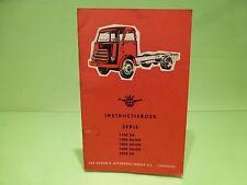 VINTAGE DAF 1100 3200 TRUCK KIKKER - 1962 INSTRUCTIEBOEK INSTRUCTION - GOOD