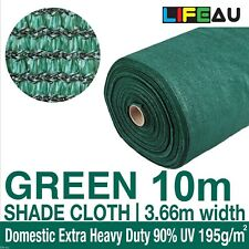 90% UV GREEN Shadecloth 3.66m x 10m Domestic Extra Heavy Duty Shade Cloth
