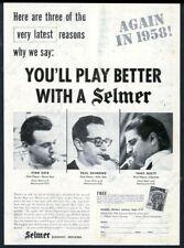 1958 Selmer Mark VI saxophone Stan Getz Paul Desmond Tony Scott photo print ad